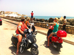 With the Vespas on the way