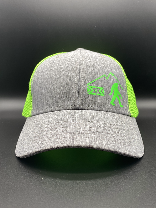 Green Bigfoot Snapback Cap