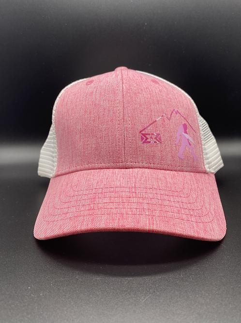Pink Camo Bigfoot Snapback Cap