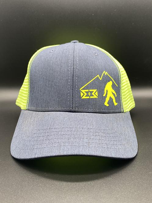 Neon Green Bigfoot Snapback Cap