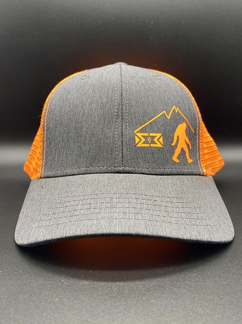 Orange Bigfoot Snapback Cap