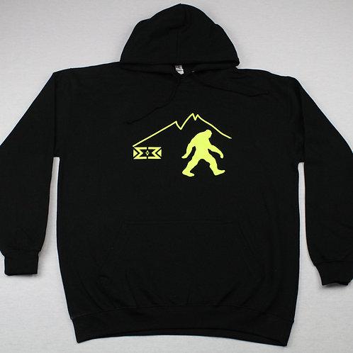 Neon Bigfoot Hoodie (Black)