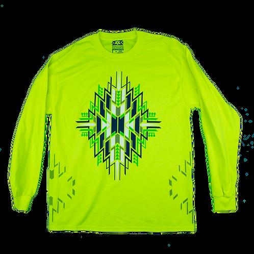 Tribal Circuits Long Sleeve (Neon Green)
