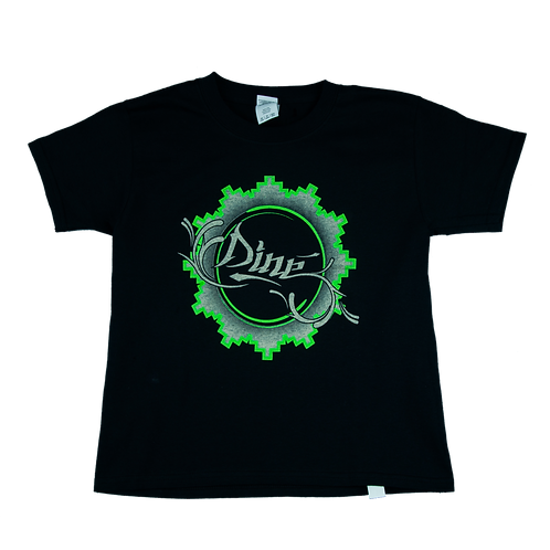 Neon Green Dine Basket Black tee (Youth)