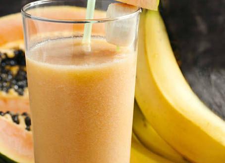 Receita: Vitamina de Banana e Mamão