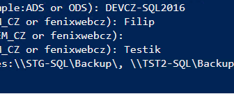 Poweshell program for Backup databases from PROD to TEST environment in MS SQL2016