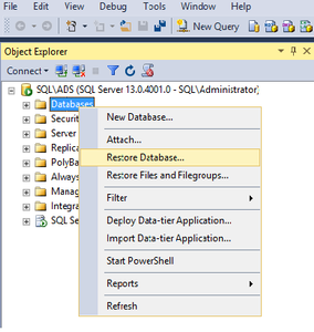 Restore Database...