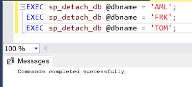 Execute sp_detach_db