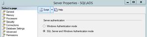 SQL Server Authentication Mode GUI