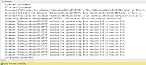 Restore Database - Result