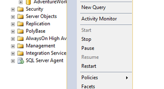 How to change the default backup location in MS SQL 2016?