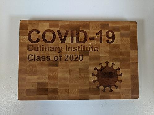 Wood Inlay of COVID-19