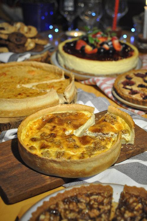 Quiche de shiitake e queijo curado média