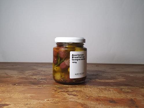 Azeitonas brasileiras temperadas - 160g