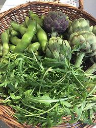 地元の農家から仕入れた新鮮野菜