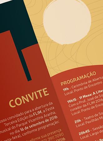 Detalhes do convite do festival