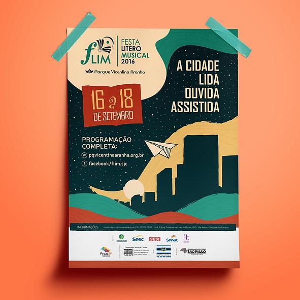 Criação dos cartazes de divulgação do festival