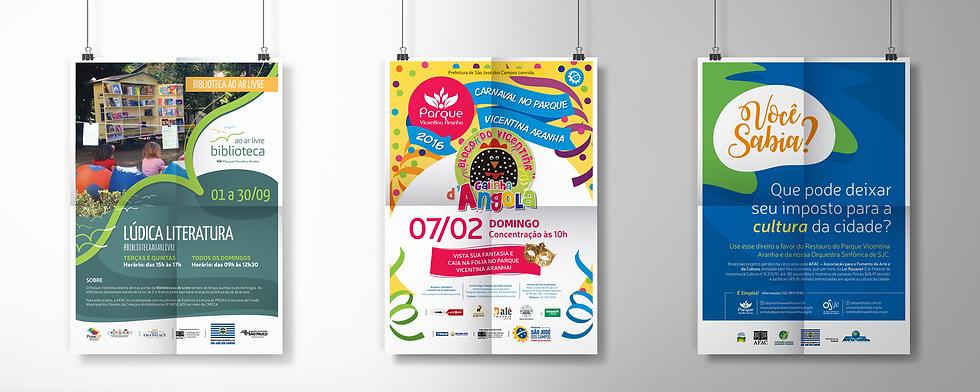 Criação de cartazes para eventos no Parque