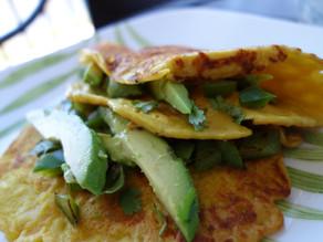 """Eggless """"Omelet"""" (Savory Pancake!) - GF, Vegan"""