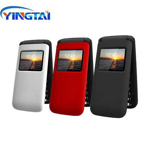 YINGTAI T40 Big Push Button Flip Phone for Elder Unlocked