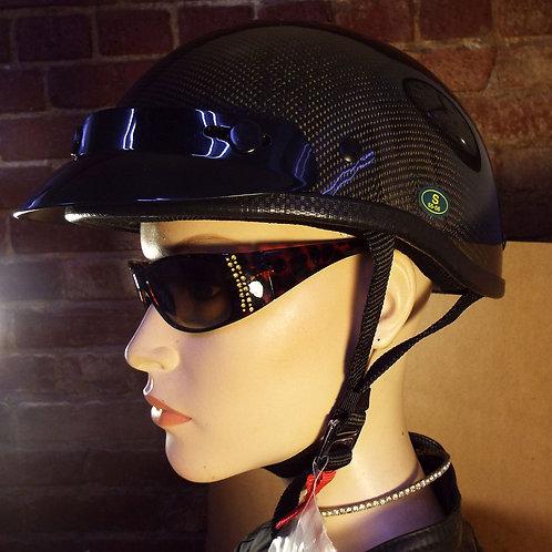 """EXL Industries HL200-1 Motorcycle Half-helmet, """"Gloss Carbon"""""""