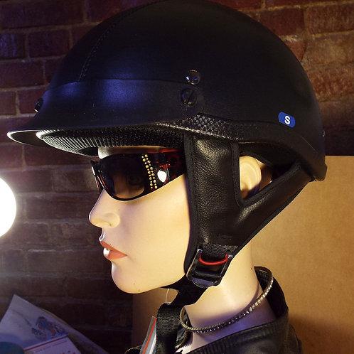 EXL Industries EXL-100 Black Leather Motorcycle Helmet