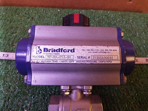 Bradford RP-BA-052-SR Pneumatic Actuator w/Ball Valve