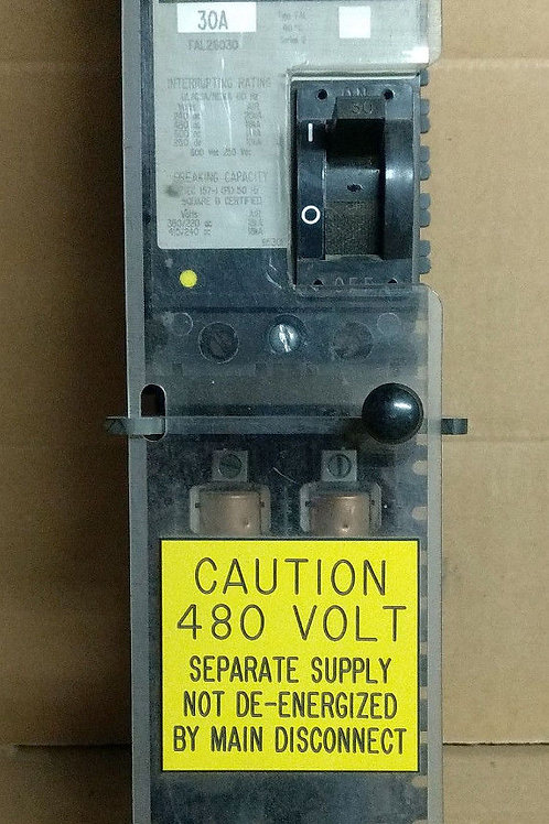 Square D FAL26030 30A Breaker Assy w/R60030-2CR Buss Fuseholder (pre-owned)