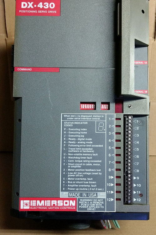Emerson DXA-430 Rev C6/C11 Positioning Servo Drive (pre-owned)