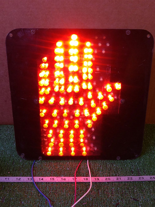 """Dialight 430-6772-001 Pedestrian """"STOP"""" Signal (pre-owned)"""
