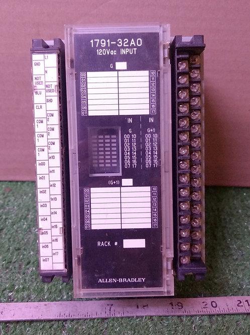 Allen-Bradley 1791-32A0 Ser B Block I/O Input Module