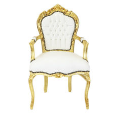White and Gold Throne Chairs £150 per pair