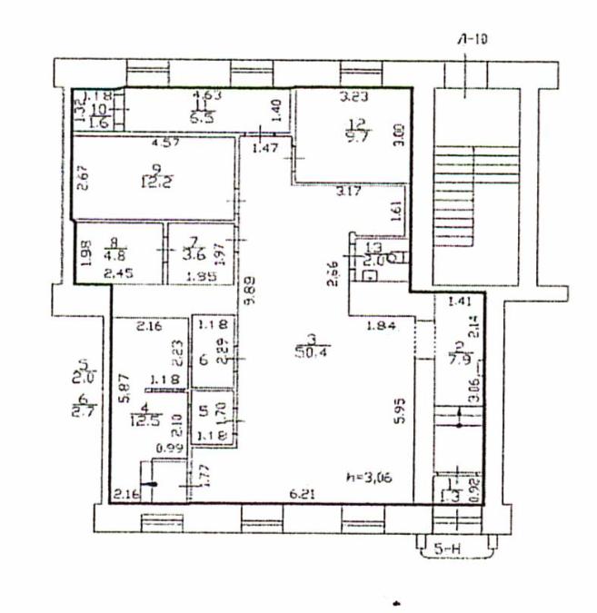 План помещения Мичуринская