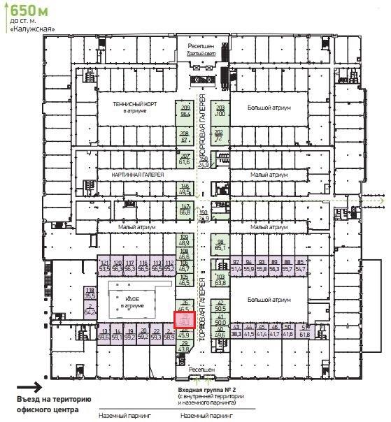 План торговой галереи  48,3 кв.м.