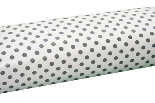 Handauflage- Weiß mit schwarzen Punkten