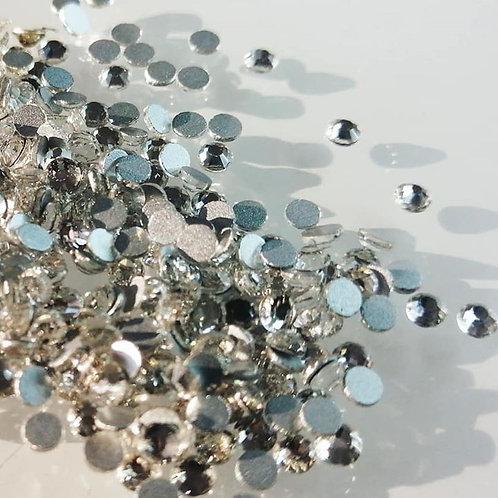 """Nail Crystals """"silver flame"""" 200 Stück"""