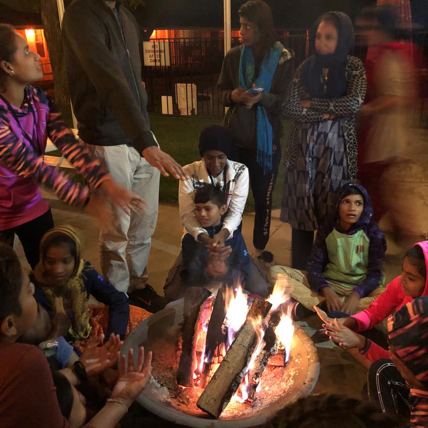 Manav Sadhna seven circles fire