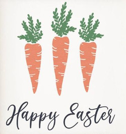 happy easter carrots