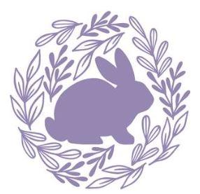 bunny in wreath