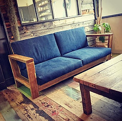 CANVAS SOFA indigo