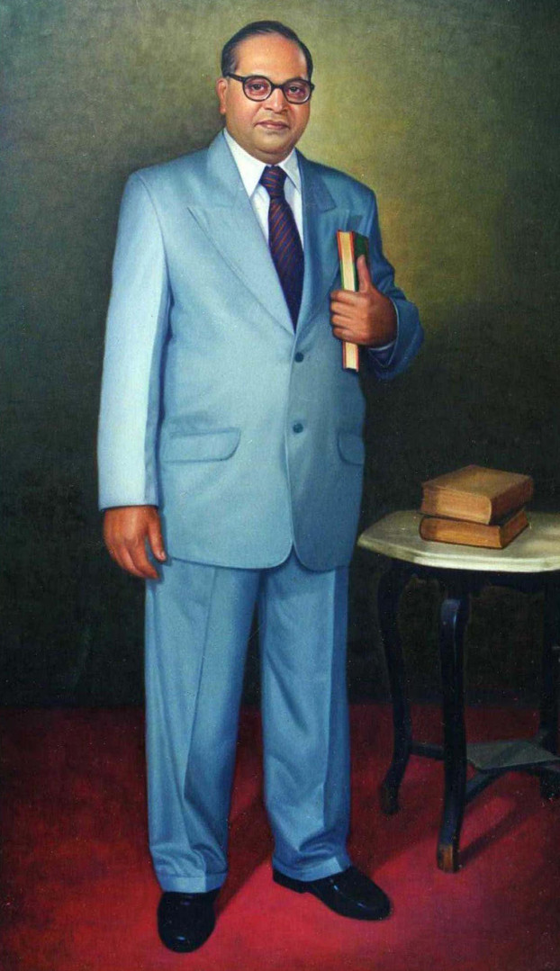 48''x78'' Oil on Canvas ( baba saheb amb