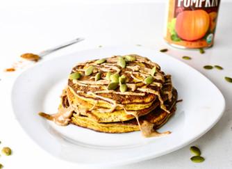 Pumpkin flax pancakes (paleo)