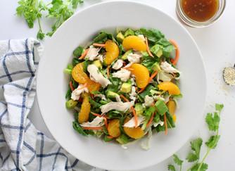 Sesame mandarin chicken salad