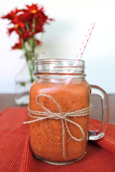 Banana, strawberry, carrot smoothie