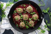 Meatballs in roasted root sauce