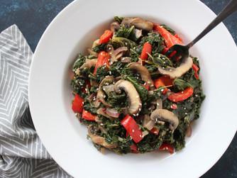 Ginger sesame kale salad