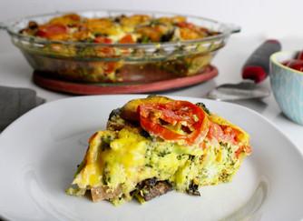 Broccoli Portobello Heirloom Frittata