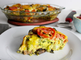 Broccoli Portobello Heirloom Frittata