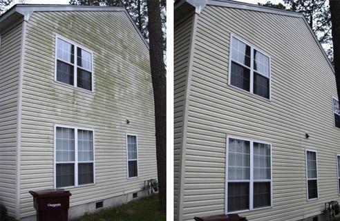 House Cleaning - Algae - Siding (Before