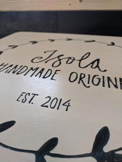 Isola Handmade Sign